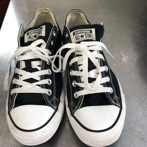 Converse black low tops